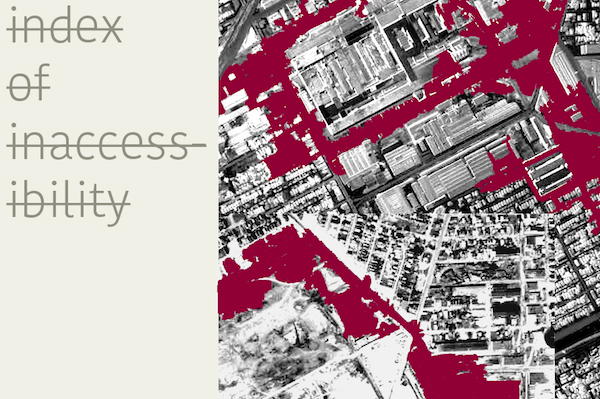 Index of Inaccessibilty (Re-drawing borders of GM Poletown Plant) - installation by Ludmila Ferrari, Juan Leal, and Félix Zamora