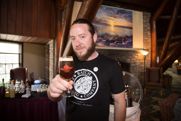 Stephen Roginson of Batch Brewing representing small business on Mackinac Island