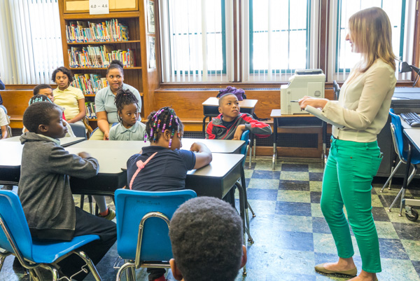 Students at Cooke Elementary in Detroit