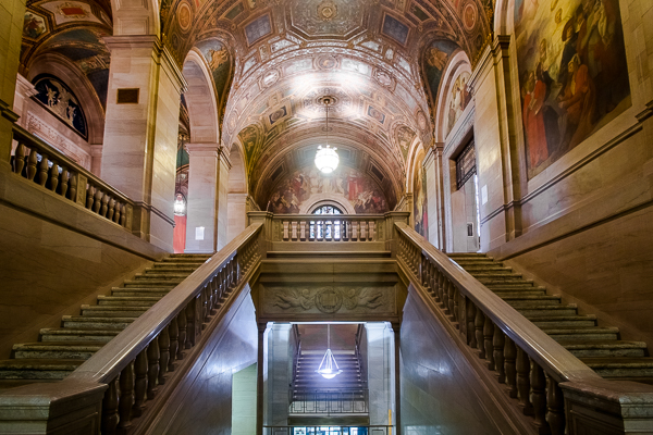 Main Library's grand staircase