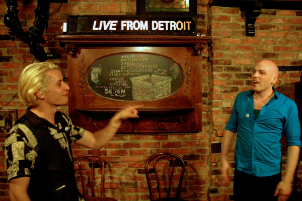 Michael Waxer and Alexander Pitts emcee Detroit Improv Live at Traffic Jam