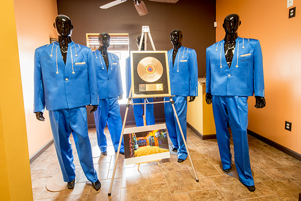 Suits worn by the Dramatics inside of United Sound Systems Recording Studio