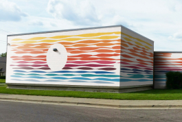 One of seven murals proposed for the Crowell Community Center