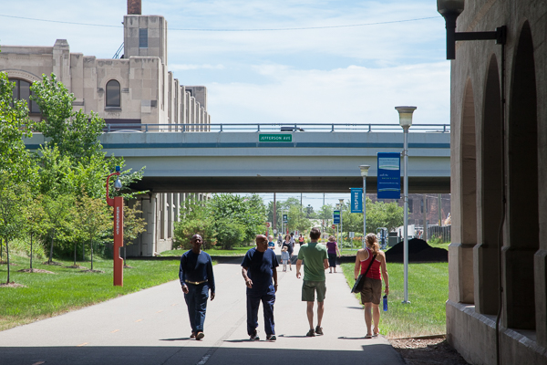 Pedestrians on the Dequindre Cut