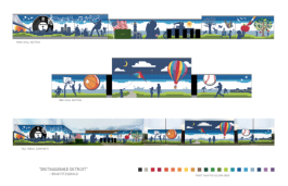 "Model D readers selected Brad Fitzgerald's ""Fun in the City"" design as their favorite to adorn the Crowell Rec Center"