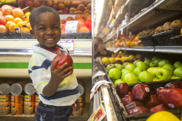 A young Detroiter in the produce aisle
