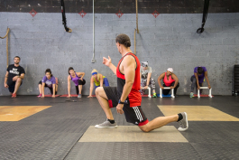 Jarrod Bell leads a workout at CrossFit BMW