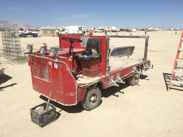 1950s Fire Supression Vehicle for a Pontiac Plant - Base for Scrubbing Bubble