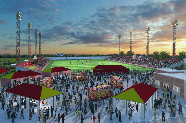 A rendering of Detroit City FC's proposed renovations to Keyworth Stadium