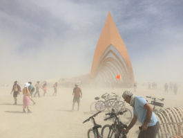 Sandstorm Hits the Temple
