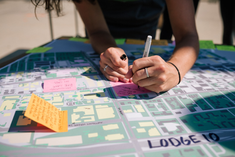 Placemaking visioning at Wayne State University