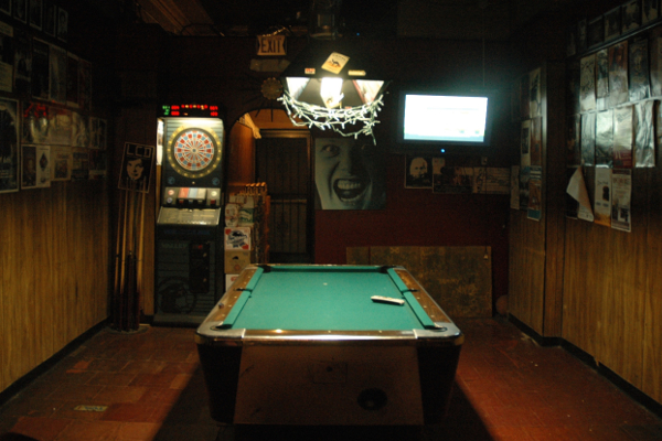 7 Brothers famed pool table and dart board