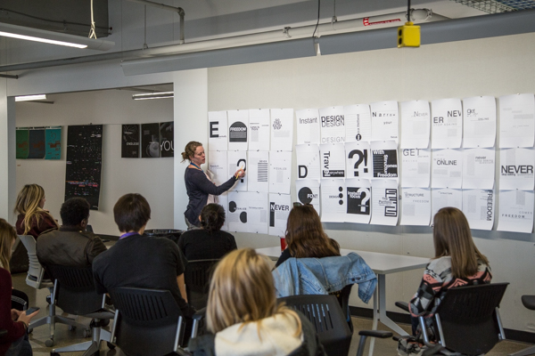 A design class at the Taubman Center for Design Education at CCS