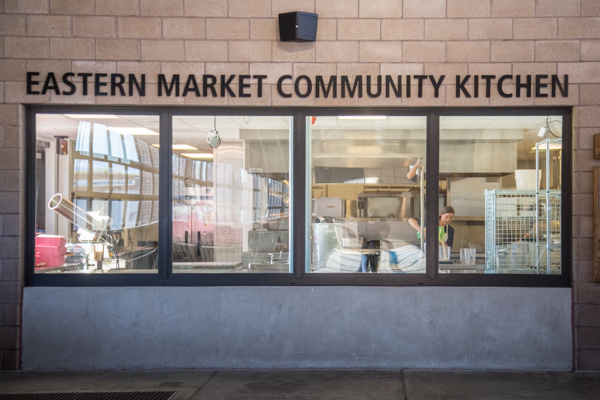 Eastern Market's Community Kitchen, where Dawn DeMuyt processes her produce