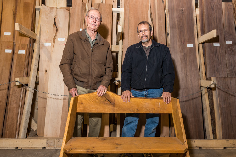 Bob Miller and Peter Smith of Pleasant Lake Hardwoods
