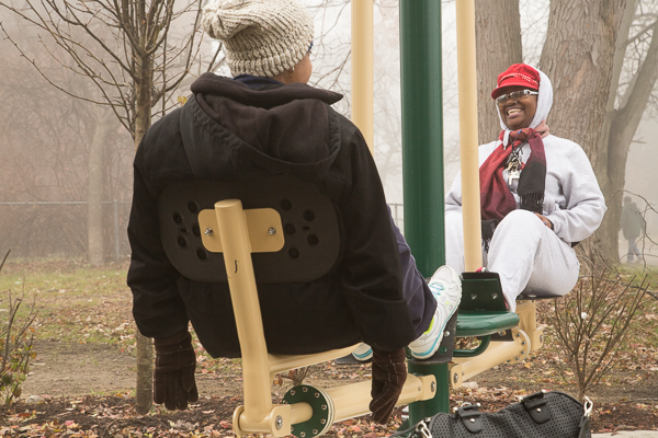 Piety Hill residents enjoy working out in their neighborhood