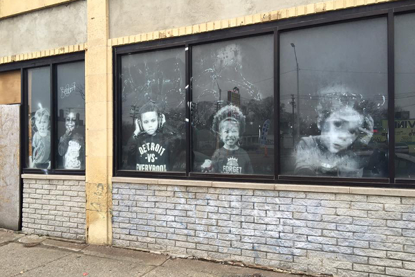 Window installations created by returning citizens