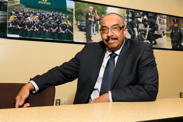 Chief Anthony Holt, 40-year veteran of the Wayne State Police Department
