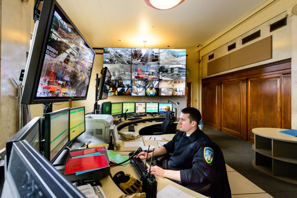 WSU's public safety command center makes use of 850 cameras