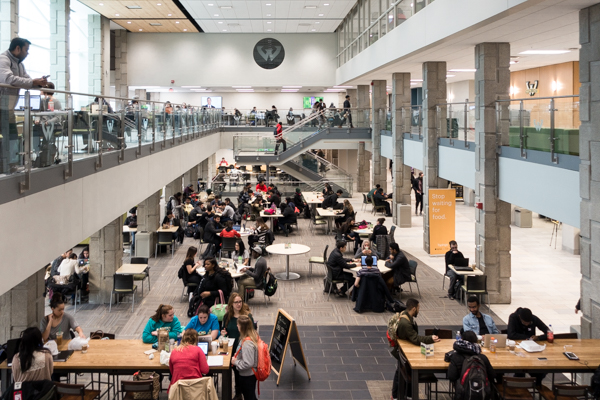 Wayne State's Student Center received a $27.5-million renovation in 2015