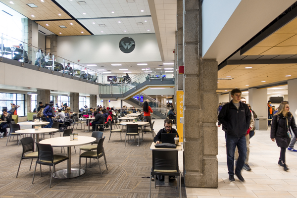Students hang out at Wayne State's Student Center