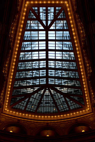 The atrium of the David Whitney Building