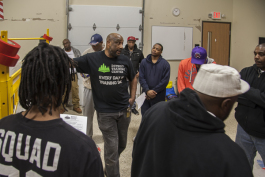 Students listen to an instructor at the Detroit Training Center