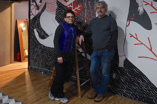 Indira (left) and Zlatan Sadikovic at the Belmont cafe, gallery and photo studio