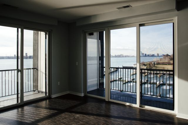 View of the riverfront from a Waters Edge unit