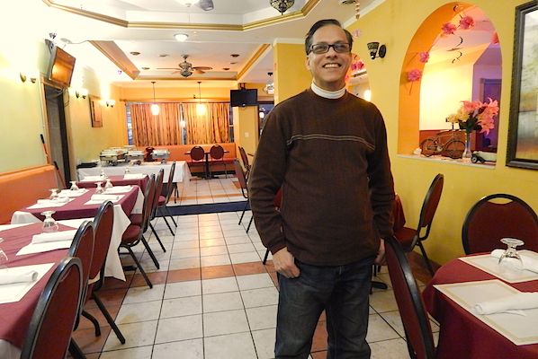 Kamal Rahman of BAPAC at Aladdin Sweets and Cafe