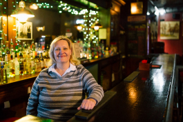 Mary Aganowski has tended bar at the Two Way Inn since 1981