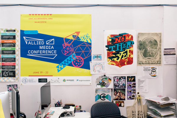 The offices of Allied Media Projects