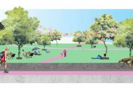 Artist rendering of renovated Dean Savage Memorial Park