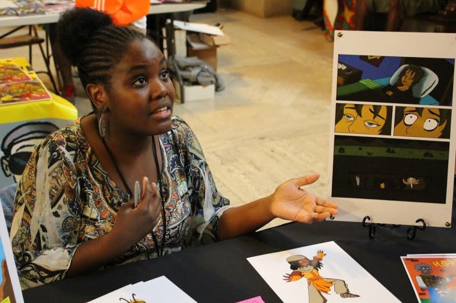 Comic artist Porche Johnson at MECCAcon 2015