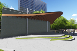 Artist rendering of the Campbell Memorial Terrace