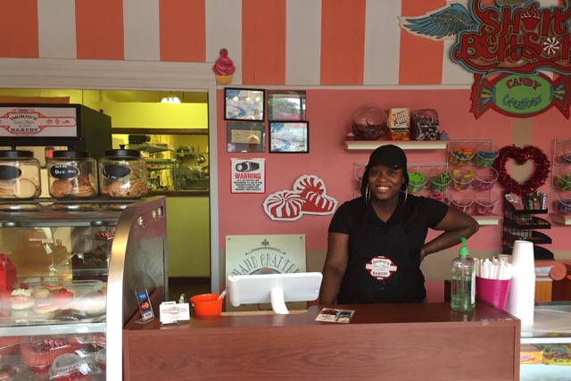 KeShon Demps, owner of Ingrid's Bakery & Shon Benson's Candy Creations