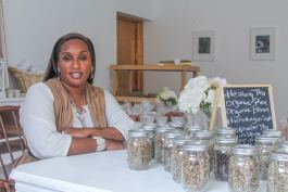 Alexis El-Amin, owner of The Mason Jar: Get Holistically Healed, a food store at 4088 W. McNichols Road. El-Amin recently moved to Detroit from Wilmington, N.C. and opened her store not long after in the University District.
