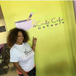 Candice Meeks, owner of The Craft Cafe Detroit