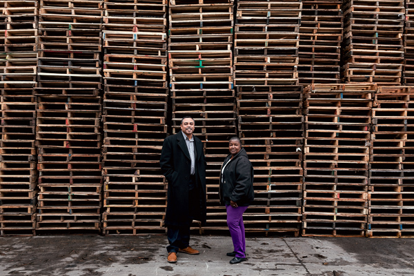 Les Lance and Geraldine Wooten of J&G Pallets