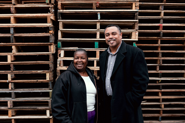 Geraldine Wooten and Les Lance of J&G Pallets