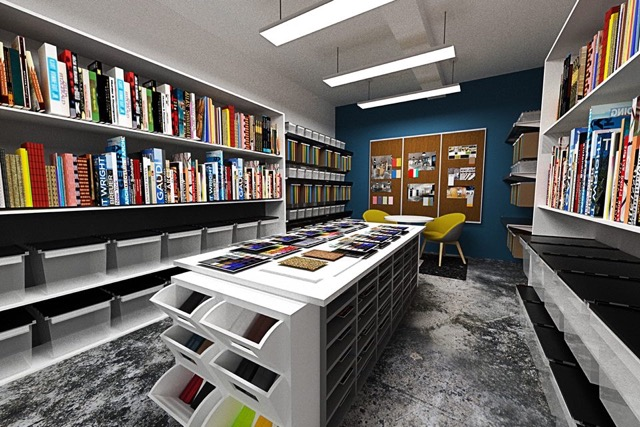 Design library at SpaceLab Detroit