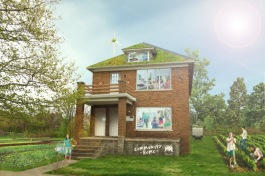 Artistic rendering of the Motown Movement house