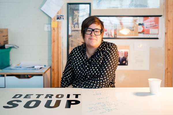 Detroit SOUP founder Amy Kaherl