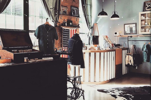 Detroit Denim's retail space