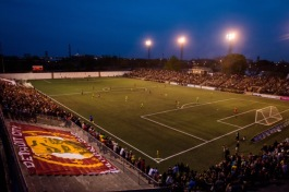 View of Keyworth Stadium during their game against AFC Ann Arbor