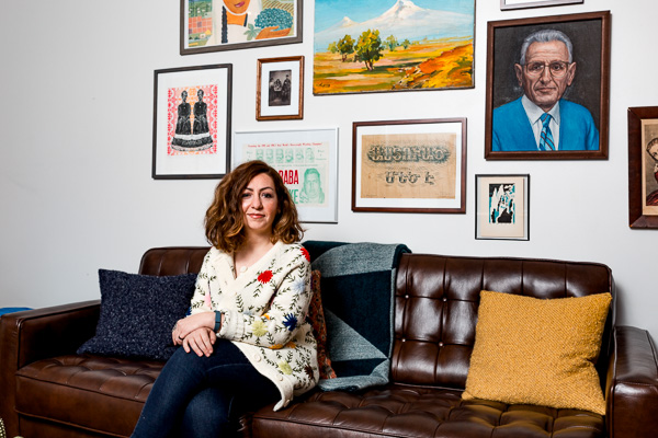 Liana Aghajanian, journalist and Write a House winner, in her home