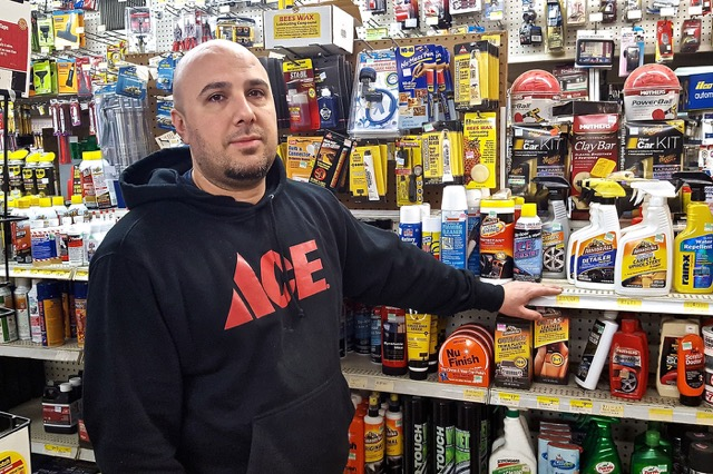 John Marroquin, Jr., employee at Brooks Lumber