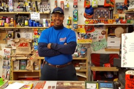 James Glenn works at the front counter and lumber desk