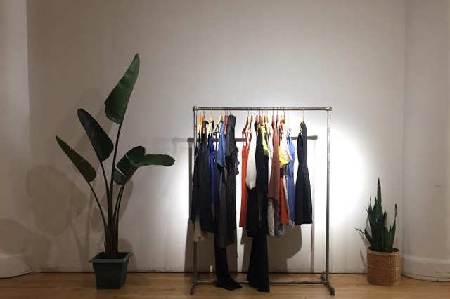 A custom built clothing rack at Boro