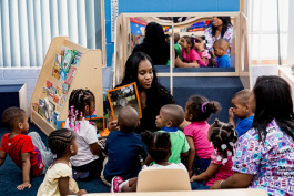 Kids and providers at Child Star Development Center